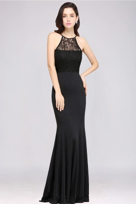 CHERISH | Mermaid Halter Floor-length Chiffon Black Prom Dress_4