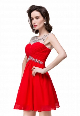 AITANA | A-line Jewel Chiffon Party Dress With  Crystal_2