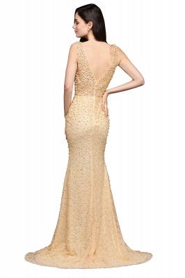 ALLIE | Mermaid Scoop Sweep Train Champagne Evening Dresses with Beadings_3