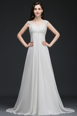 AMARA | A-Line Sweep Trains Glamorous Wedding Dresses with Lace