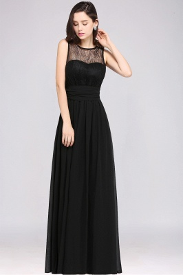 CHARLOTTE |A-line Floor-length Chiffon Sexy Black Prom Dress_13