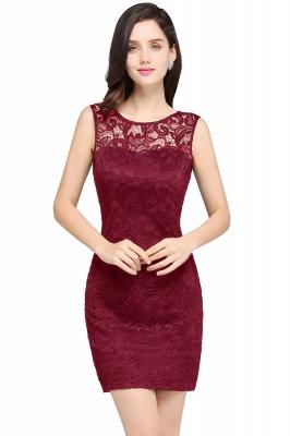 ARYA | Sheath Scoop Black Lace Cheap Homecoming Dresses_1