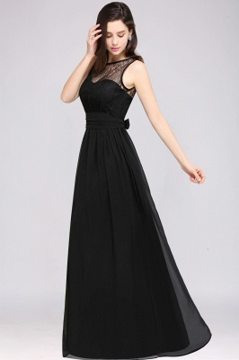 CHARLOTTE |A-line Floor-length Chiffon Sexy Black Prom Dress_11