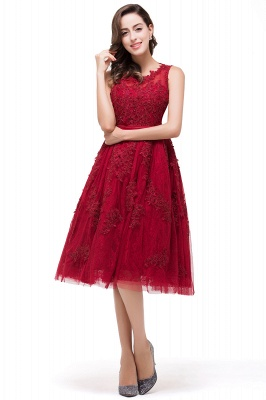 ADELINE | A-line Short Tulle Evening Dress with Appliques_6