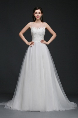 BAILEE | A-line Scoop Tulle Elegant Wedding Dress With Lace