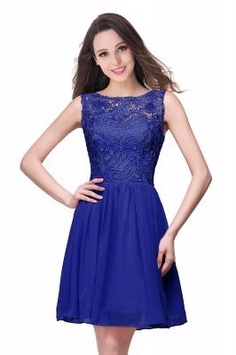ELIANA | A-line Short Sleeveless Bateau Chiffon Ruffles Lace Top Prom Dresses_5