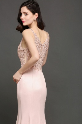 ALLYSON   Mermaid V-Neck Pearl Pink Prom Dresses with Beads_4
