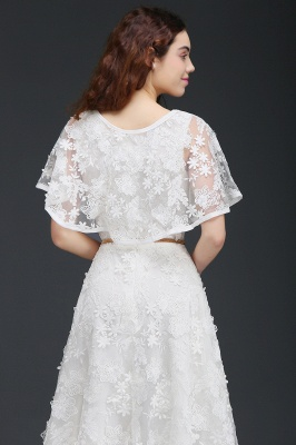ANDREA | A-line Short Lace Homecoming Dress With Crystal_5