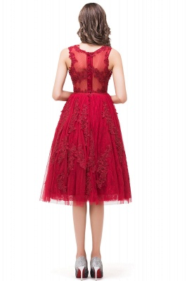 DANA | A-Line Knee-Length Red Lace Tull Prom Dresses with sequins_3