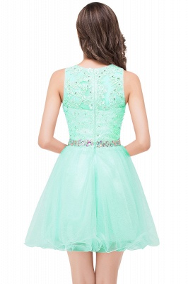 ABBY | A-line Knee-length Tulle Prom Dress with Appliques&Crystal_9