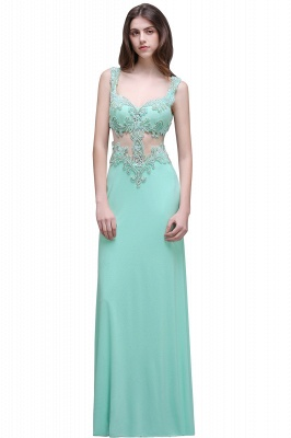 BARBARA | Sheath Straps Floor-Length Mint Green Prom Dresses With Pearls_1