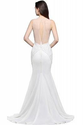 AVERY | Mermaid Scoop Chiffon White Evening Dress With Beadings_4