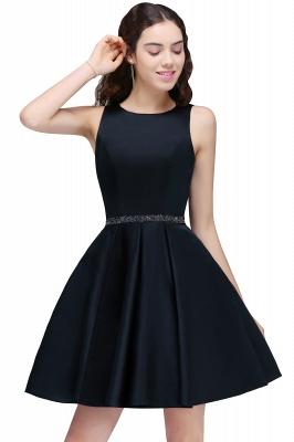 Short A-Line Sequare Beadings Black Sleeveless Homecoming Dresses_1