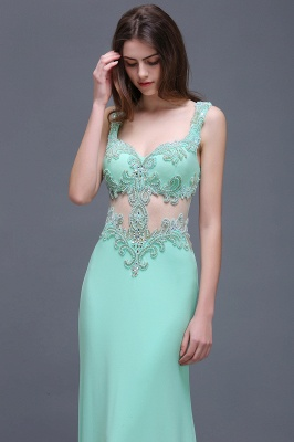 BARBARA | Sheath Straps Floor-Length Mint Green Prom Dresses With Pearls_7