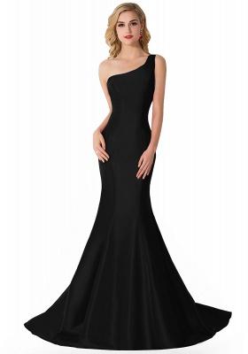 AILEEN   Mermaid One Shoulder Satin Evening Dress_4