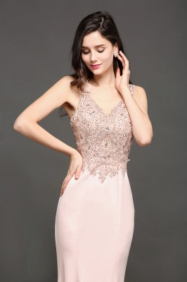 ALLYSON   Mermaid V-Neck Pearl Pink Prom Dresses with Beads_5