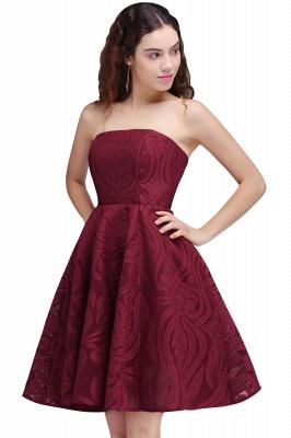 BRENNA | A-Line Strapless Burgundy Homecoming Dresses_1