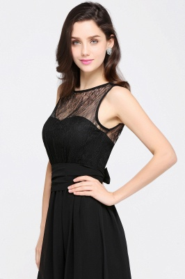 CHARLOTTE |A-line Floor-length Chiffon Sexy Black Prom Dress_14