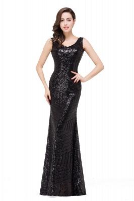 Newest Long Sequin Jewel Mermaid Sleeveless Prom Dress_4