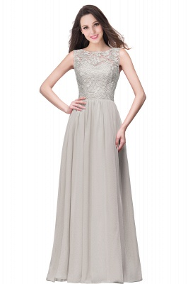 ELYSE | A-line Sleeveless Crew Floor-length Lace Top Chiffon Prom Dresses_8