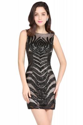 AMALIA   Sheath Short Black Sexy Cocktail Dresses_2