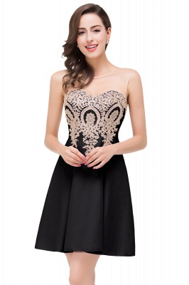 ESTHER | A-line Sleeveless Chiffon Short Prom Dresses with Appliques_3