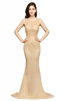ALLIE | Mermaid Scoop Sweep Train Champagne Evening Dresses with Beadings_2