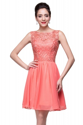 ELIANA | A-line Short Sleeveless Bateau Chiffon Ruffles Lace Top Prom Dresses_13