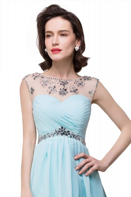 AITANA | A-line Jewel Chiffon Party Dress With  Crystal_5