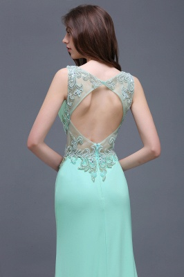 BARBARA | Sheath Straps Floor-Length Mint Green Prom Dresses With Pearls_4