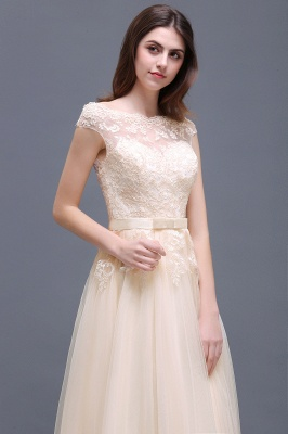 AUBREE | A-line Floor-Length Tulle Prom Dress With Lace Appliques_12