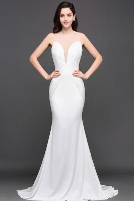 AVERY | Mermaid Scoop Chiffon White Evening Dress With Beadings_1
