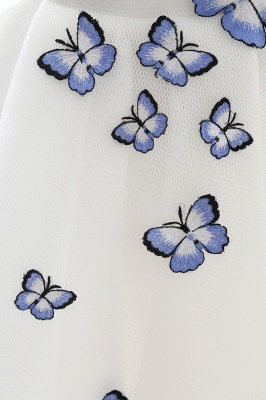 Custom Made A-line Cute White Short Homecoming Dresses With Butterfly_7