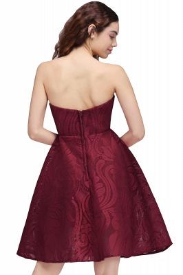 BRENNA | A-Line Strapless Burgundy Homecoming Dresses_3