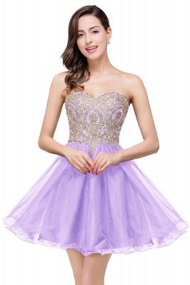 Gabriela | A Line Lace Appliques Sweetheart Short Prom Dresses_2