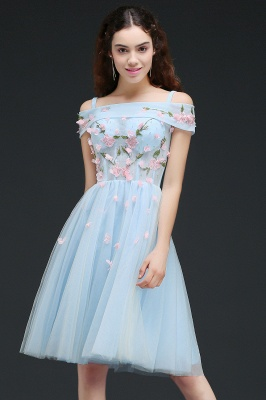 ANGELINE | A-line Short Cute Homecoming Dress Flowers_4