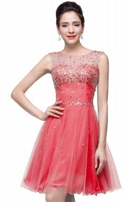 Sleeveless Open-Back Short Crystal Homecoming Dresses_2