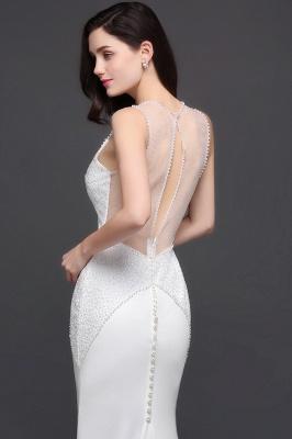 AVERY | Mermaid Scoop Chiffon White Evening Dress With Beadings_5