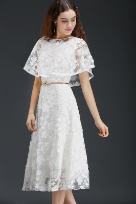 ANDREA | A-line Short Lace Homecoming Dress With Crystal_4
