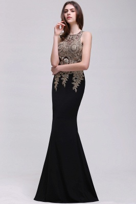 BROOKLYNN   Mermaid Black Prom Dresses with Lace Appliques_7