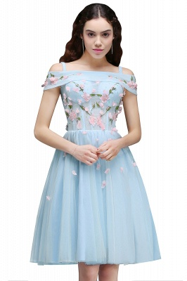 ANGELINE | A-line Short Cute Homecoming Dress Flowers_1
