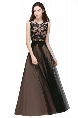 ARABELLA | A-line Scoop Floor Length Lace Cheap Evening Dresses_1
