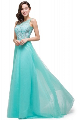 ABRIL | A-line Court Train Tulle Evening Dress with Appliques_12
