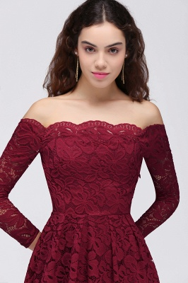 BRINLEY | A-Line Off-the-Shoulder Short Lace Burgundy Homecoming Dresses_5