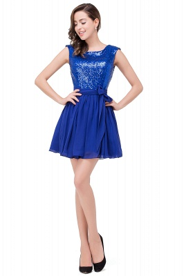 EMERSYN | A-Line Sleeveless Sequins Chiffon Short Prom Dresses_1