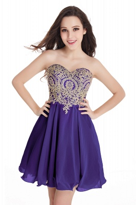 Appliques Short SweetheartMini Cheap Homecoming Dresses_5