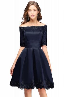 ELSIE | A-line Off-shoulder Half Sleeves Short Lace Appliques Prom Dresses_4