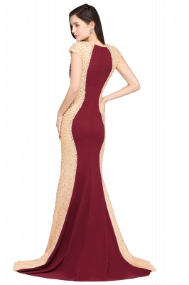 ANYA | Mermaid Scoop Burgundy Pretty Evening Dresses_3