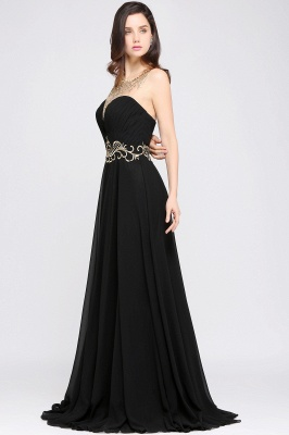 AVA | A-line Scoop Chiffon Prom Dress With Lace_6