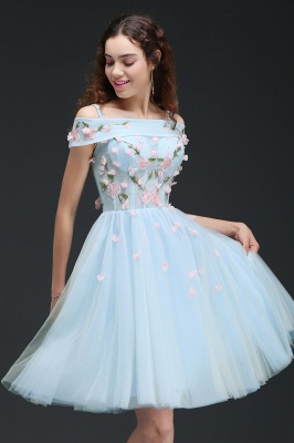 ANGELINE | A-line Short Cute Homecoming Dress Flowers_6